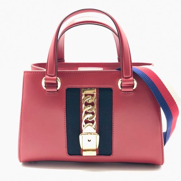 ca441b9bd4eeef Gucci Bags   Sylvie Web Leather Crossbody Shoulder Bag   Poshmark
